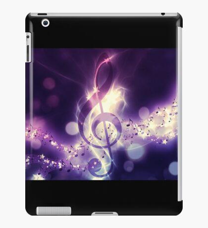 Glühender Musikhintergrund iPad-Hülle & Klebefolie
