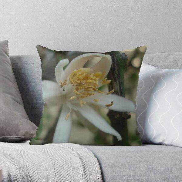 lemon flower 1 Throw Pillow