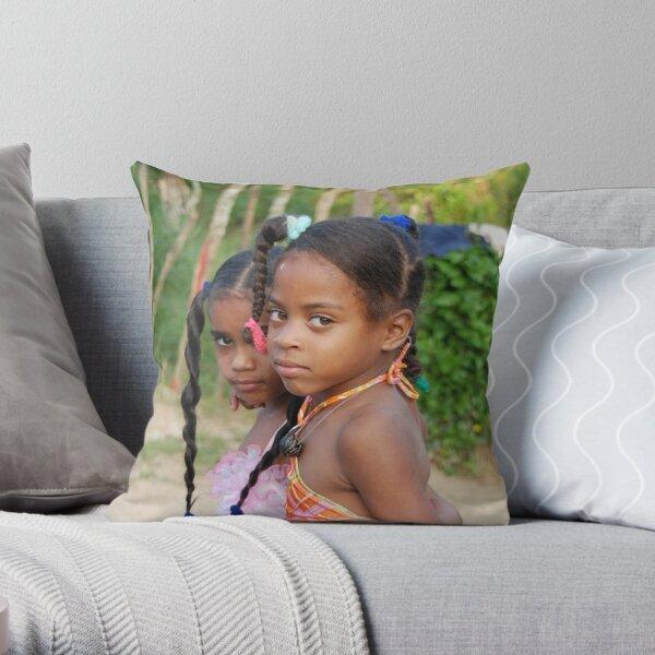girls! Throw Pillow