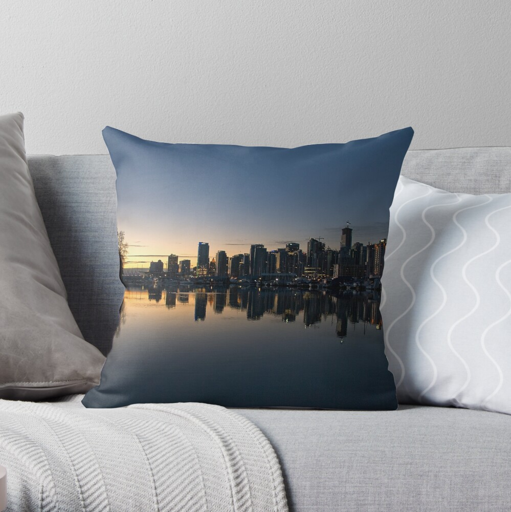 Vancouver, BC  Morning Throw Pillow