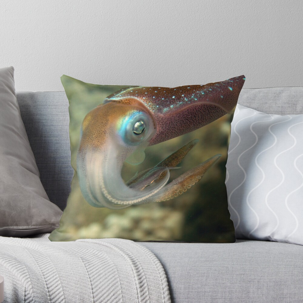 45 min.with squidd Throw Pillow