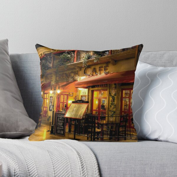 The French Cafe Throw Pillow