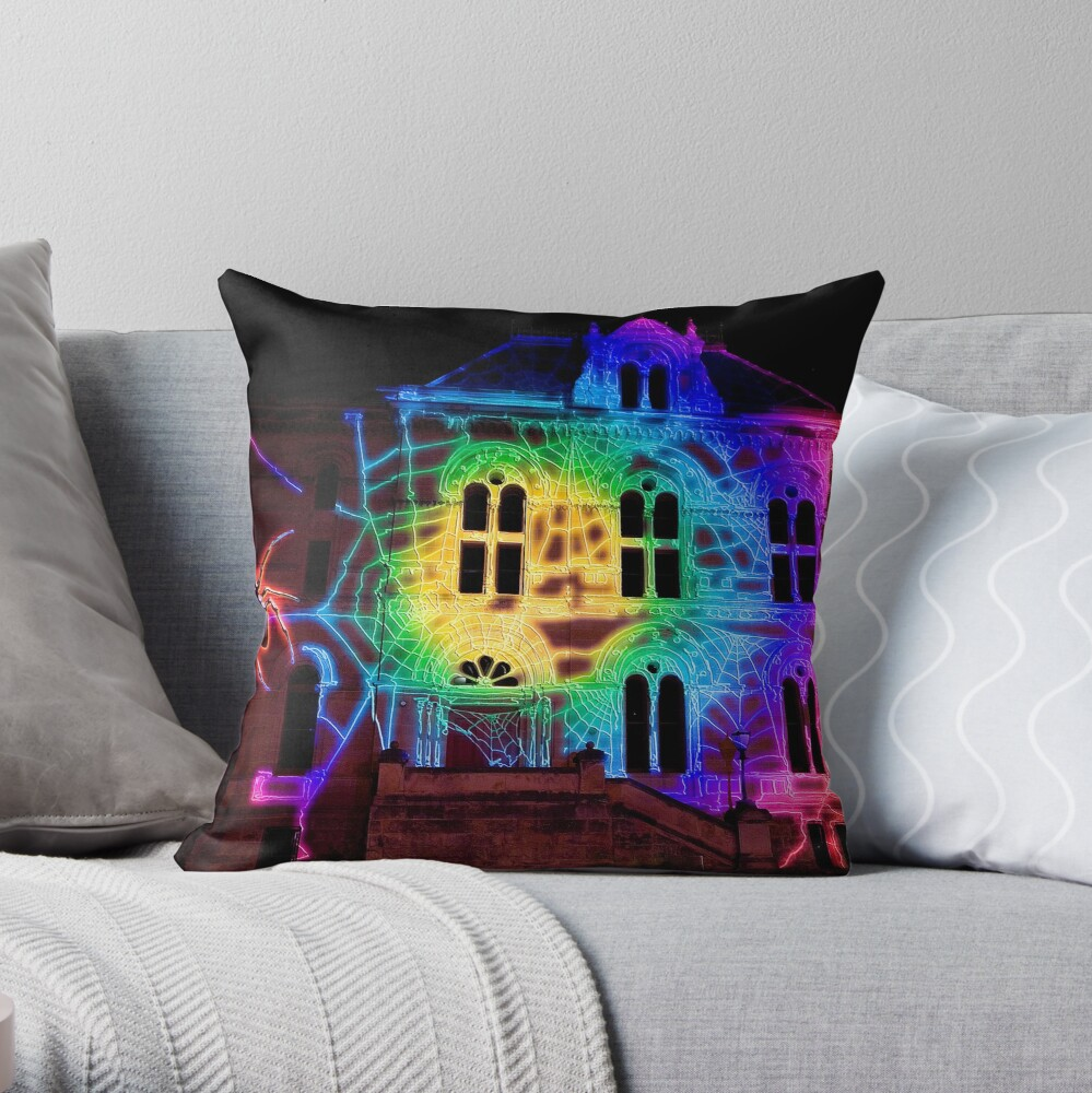 Northern Light's Spiders Web. Throw Pillow