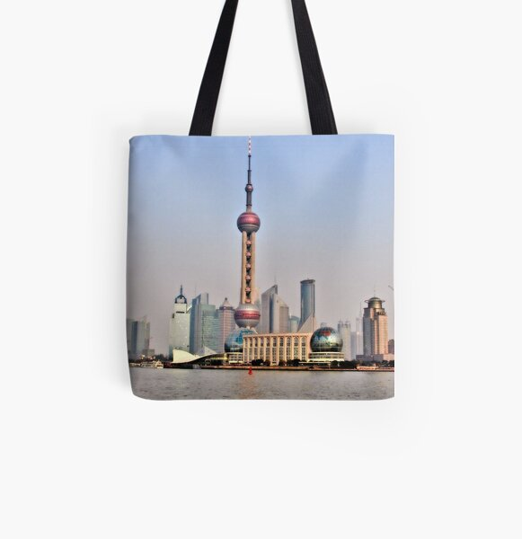 Shanghai View All Over Print Tote Bag
