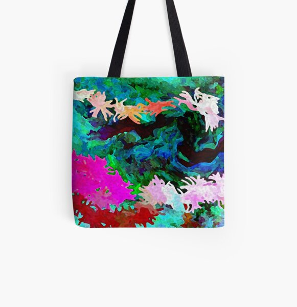 Anenomes All Over Print Tote Bag