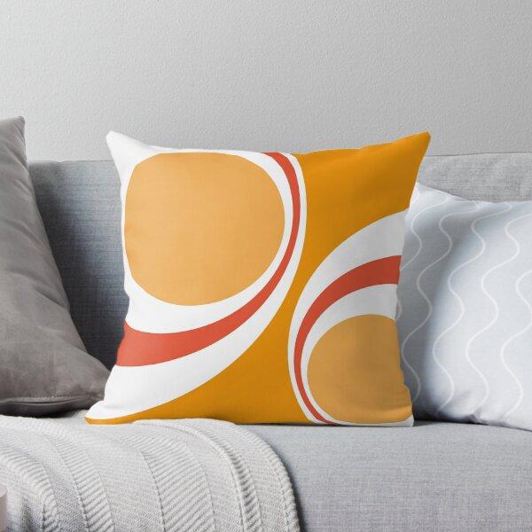 orange retro Throw Pillow