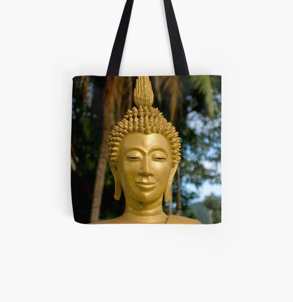 Quiet Buddha All Over Print Tote Bag