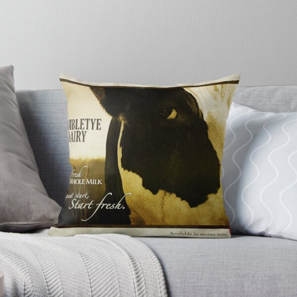 Brambletye Dairy Throw Pillow