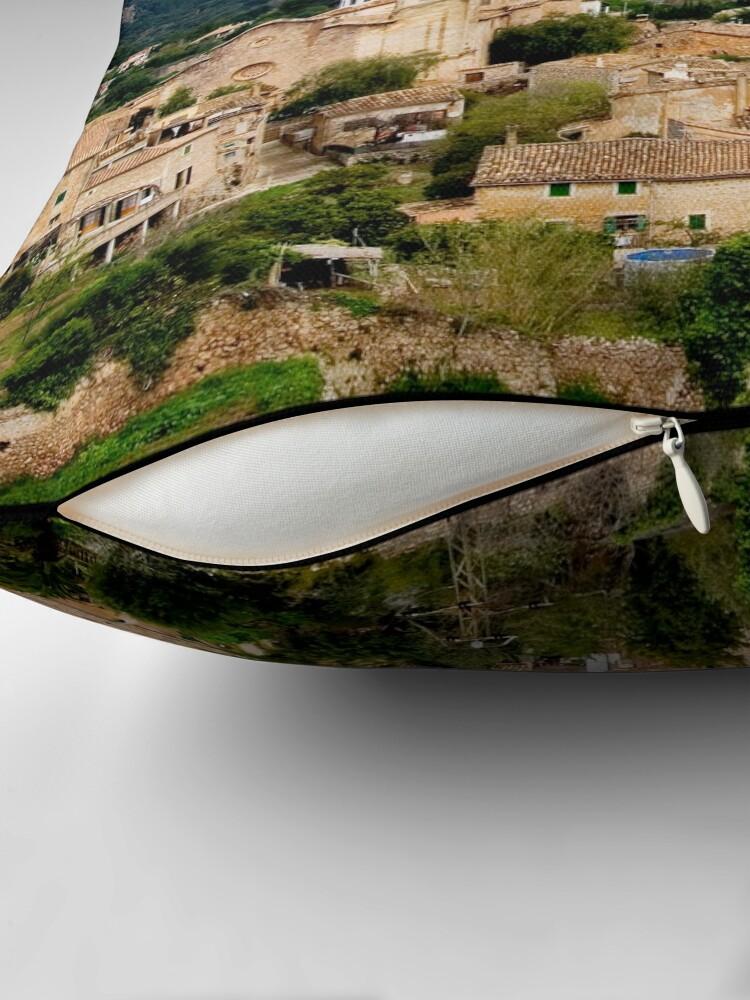 Alternate view of Spanish town of Valdemossa in Mallorca Throw Pillow