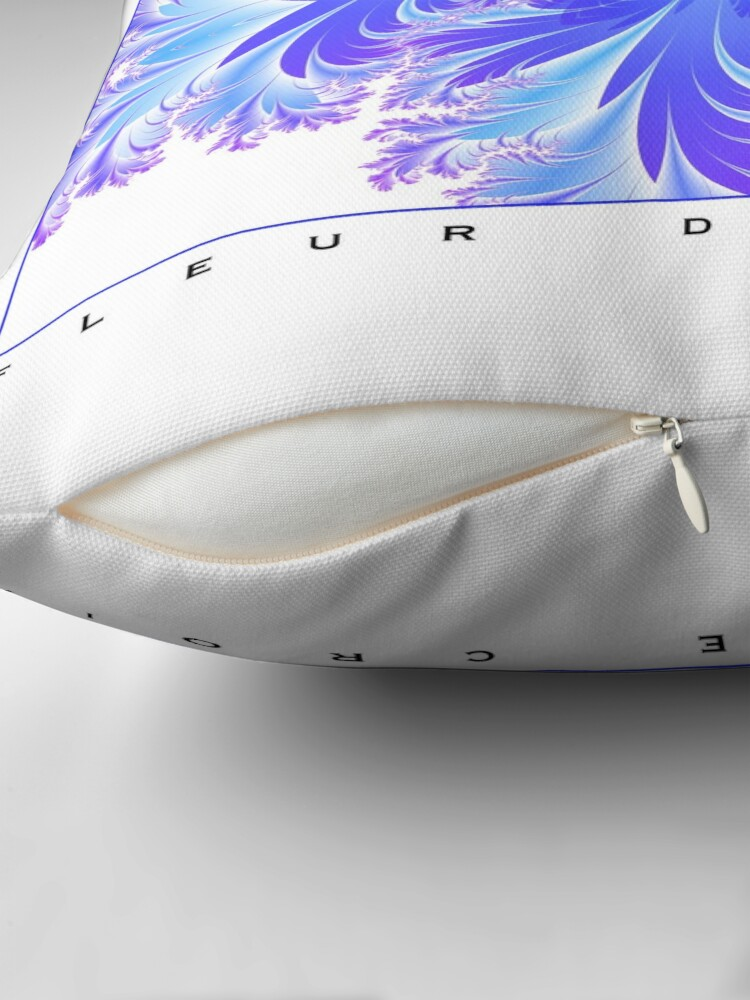 Alternate view of Fleur de Croix Violet Throw Pillow