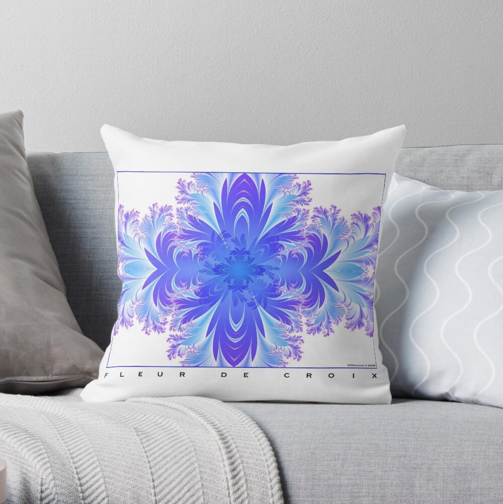 Fleur de Croix Violet Throw Pillow