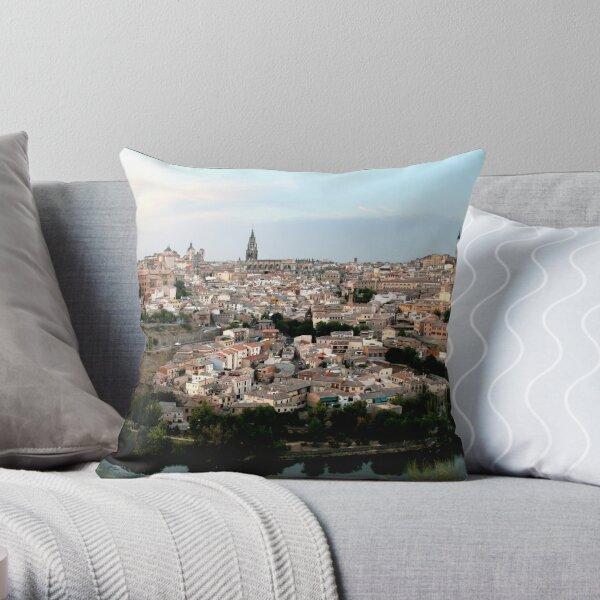 The Spanish City of Toledo Throw Pillow