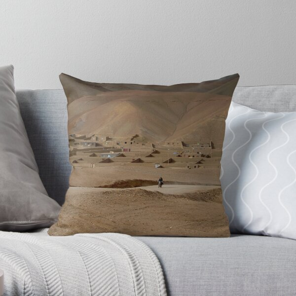 Village Afghanistan Throw Pillow