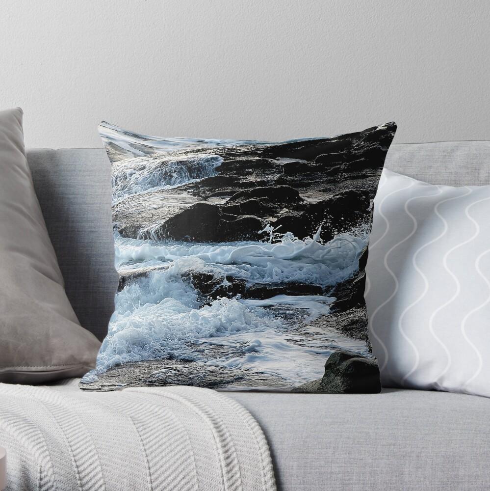 Foaming Shore Throw Pillow