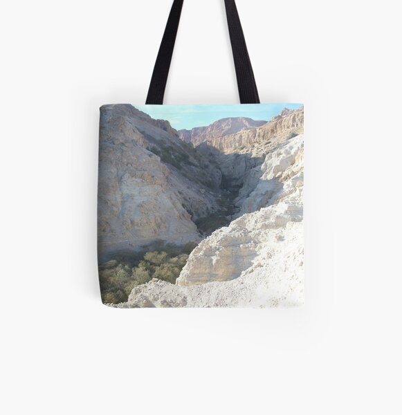 Green Valley, Brown Mountain All Over Print Tote Bag