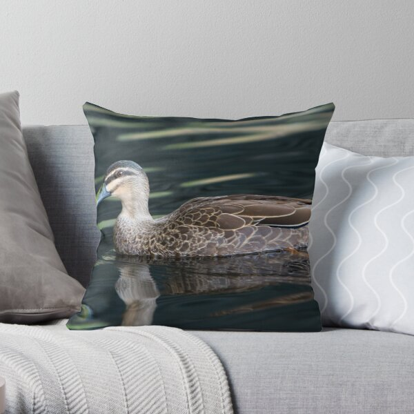 Duck shooting RedBubble Style. Throw Pillow