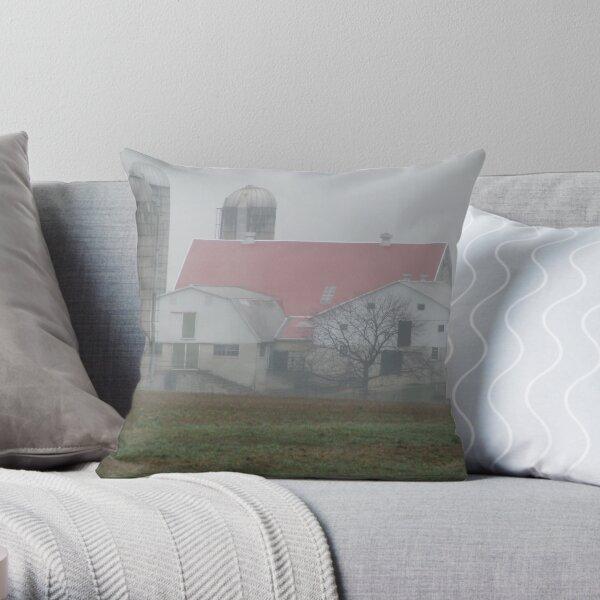 Rain on the Farm Throw Pillow