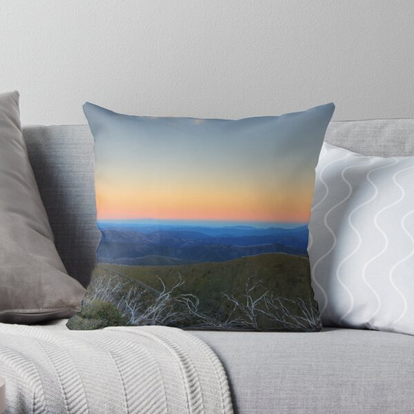 Sunrise in the High Country Throw Pillow