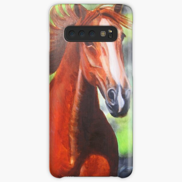 oil painting of a Chestnut Horse Samsung Galaxy Snap Case