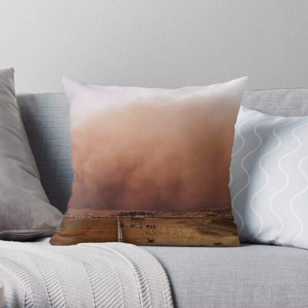 Sand storm in Afghanistan Throw Pillow