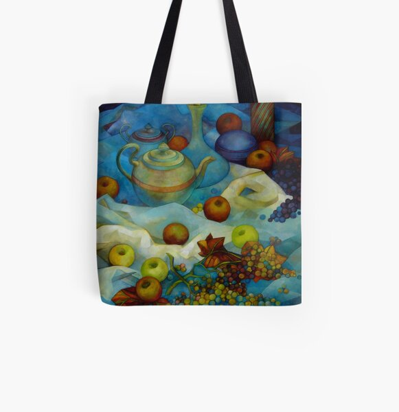 blu still life All Over Print Tote Bag