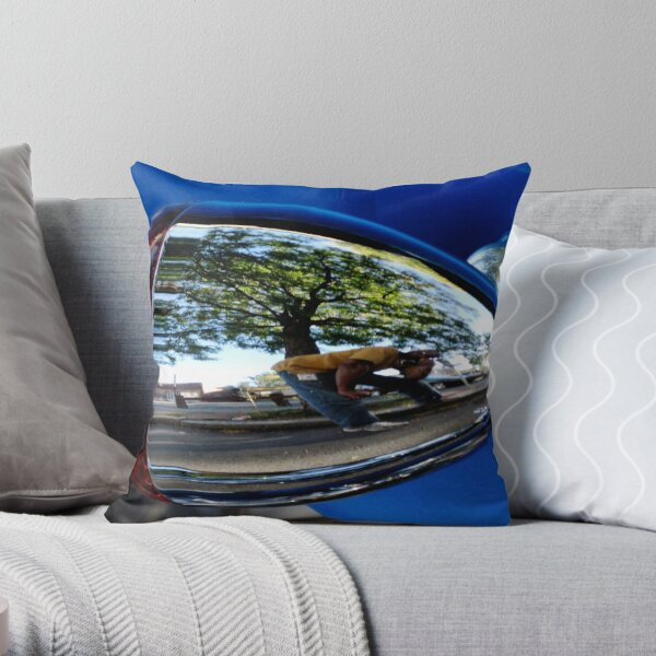 Self-Portrait In A Chrome Bullet Throw Pillow