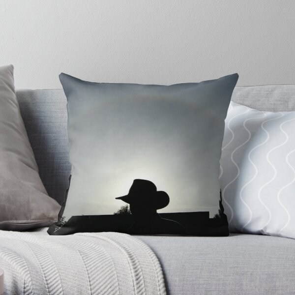 Hat & halo Throw Pillow