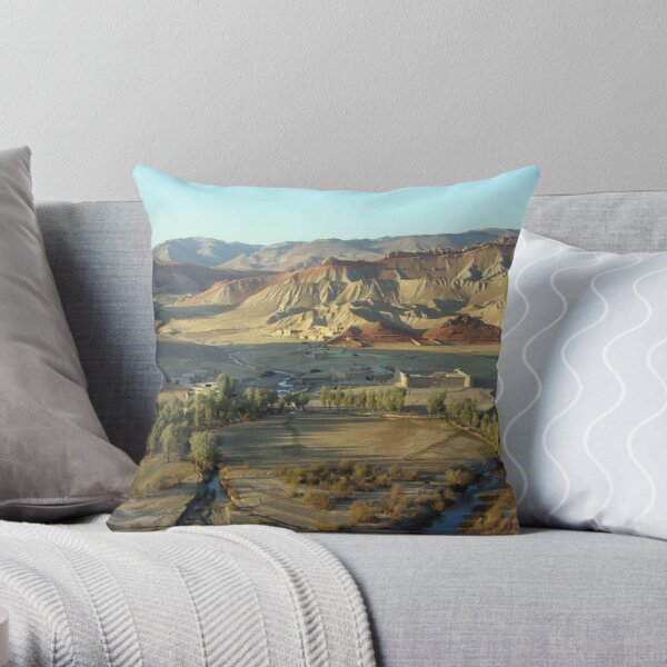 In early morning (Afghanistan) Throw Pillow