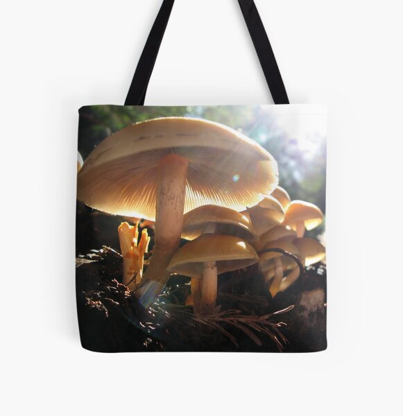 Shrooms All Over Print Tote Bag