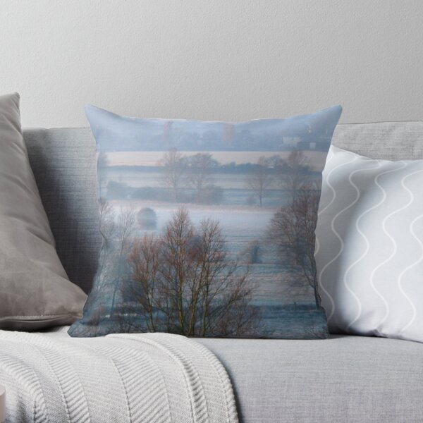 Valley Frost Throw Pillow