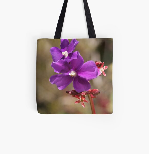 Purple All Over Print Tote Bag