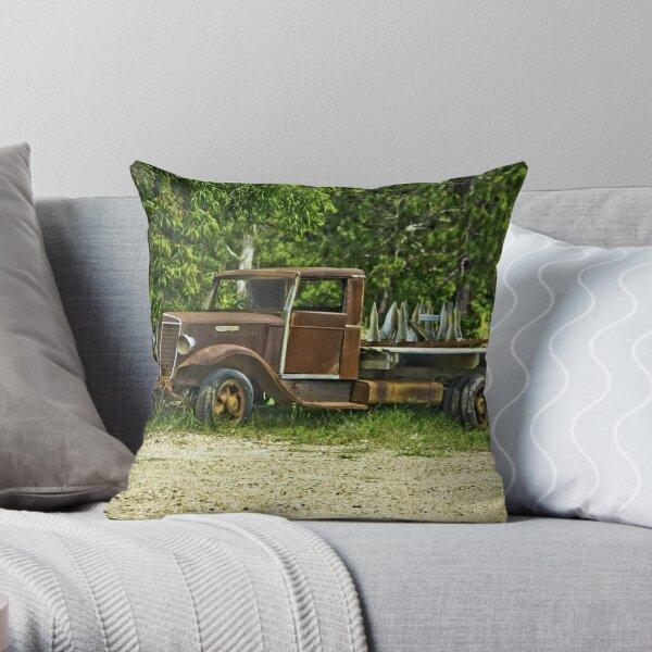 Keep on Trucking. Throw Pillow