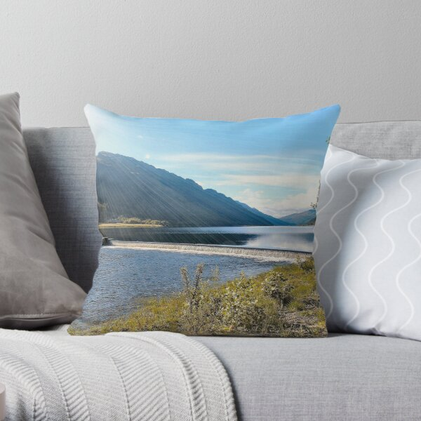 Overflow in Locheck Throw Pillow