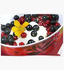 Summerfresh Lunch with Berries and Tropaeolum majus Poster