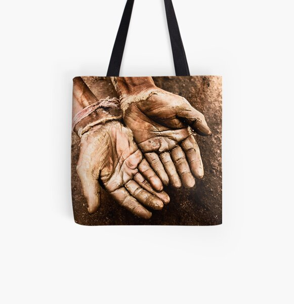 Craftsmans Hand All Over Print Tote Bag