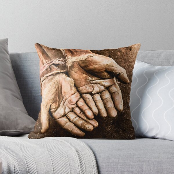 Craftsmans Hand Throw Pillow