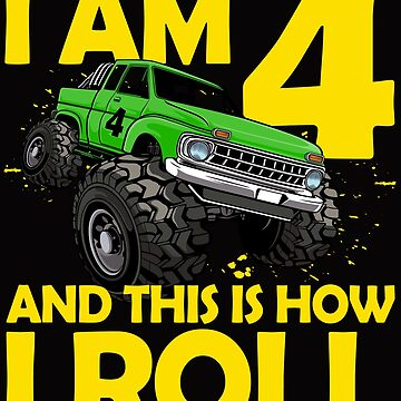 4. Geburtstag Geschenk 4 Jahre Monster Truck von leroygomez