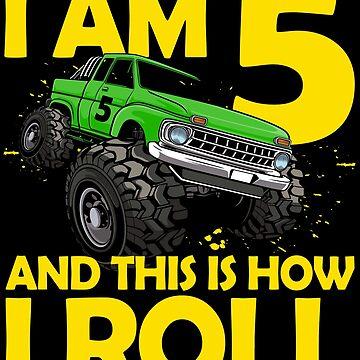 5. Geburtstag Geschenk 5 Jahre Monster Truck von leroygomez
