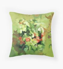 Abstract of Japonica (Quince) Throw Pillow