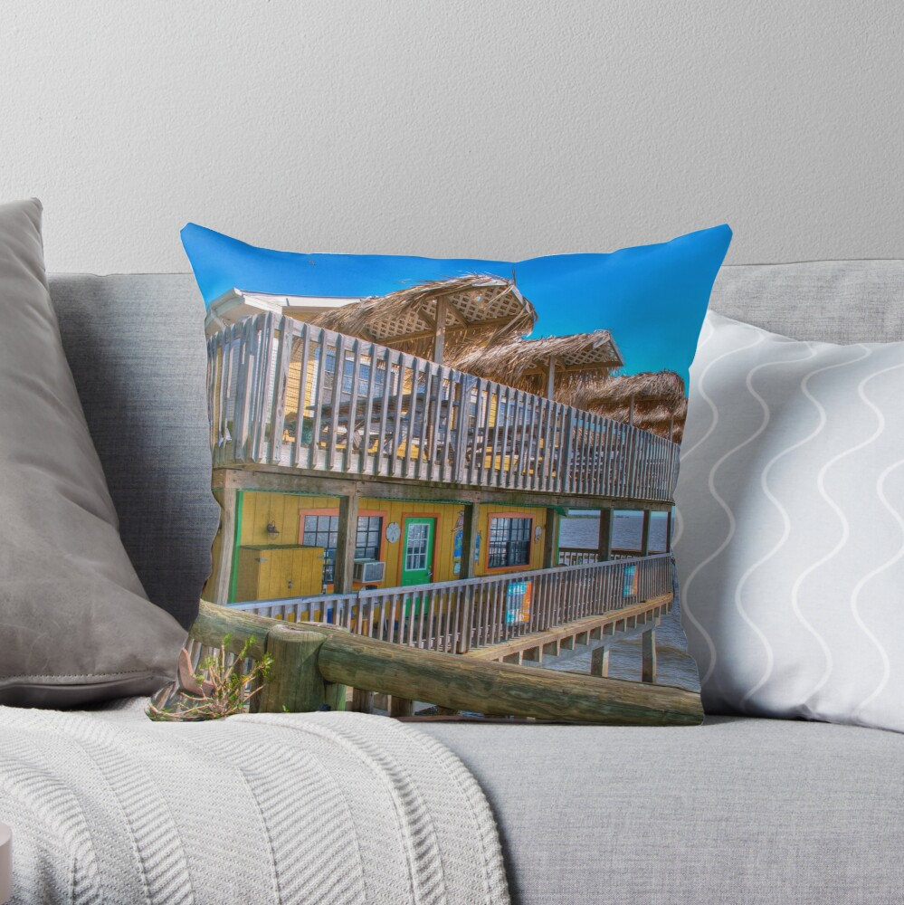 Coco's Cafe Throw Pillow