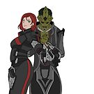 FLAT COLOREDThane and Shepard by lomcia