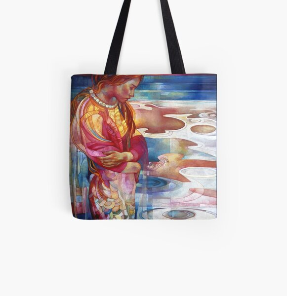 blu mermaid All Over Print Tote Bag