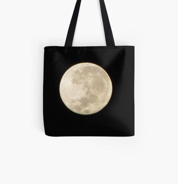 Moon in Taurus All Over Print Tote Bag