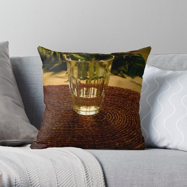 Glass In The Candlelight Throw Pillow