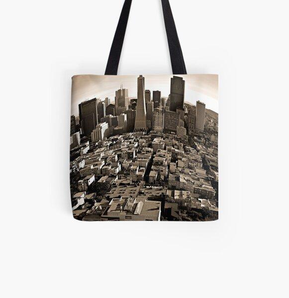 SanFrancisco-Cityscape All Over Print Tote Bag