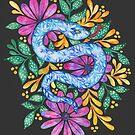 Snake on Black by zephyrra