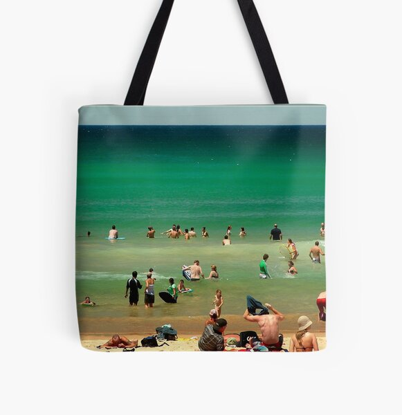 Manly Beach Feb Jan 05 All Over Print Tote Bag