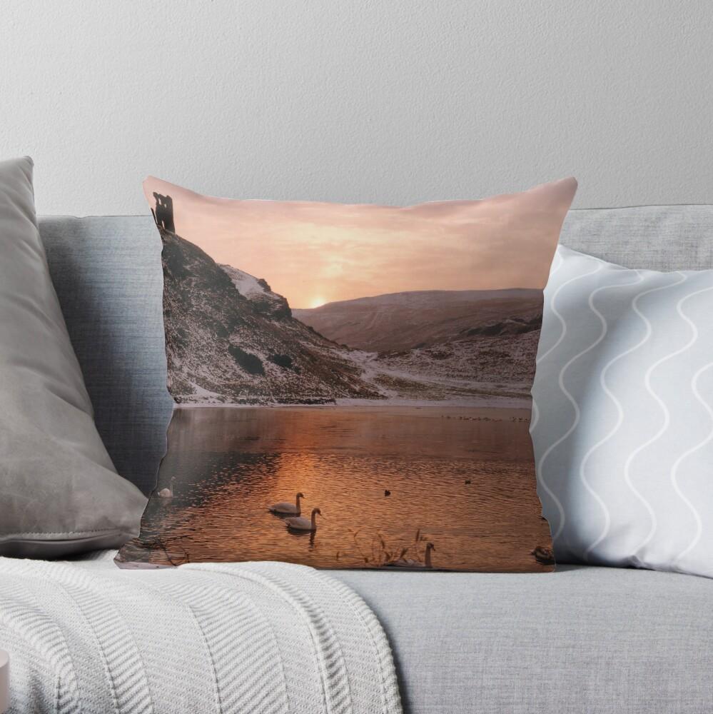 St Margaret's Loch Throw Pillow
