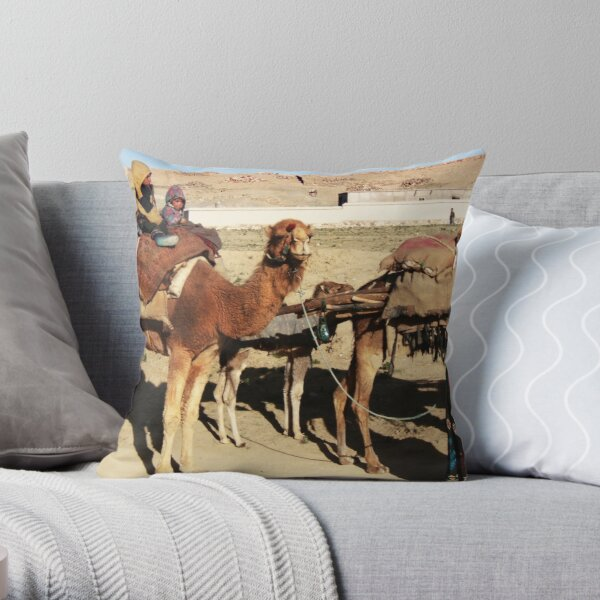 Family of wandering tribes (Afghanistan) Throw Pillow