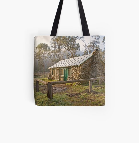 High Country Hut All Over Print Tote Bag